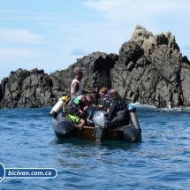 Bicivan Tour Kayak Buceo Mar isla gorgona Pacifico Colombia